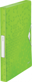 Папка-бокс Leitz WOW A4 PP 250 листов Зелёная (4629-00-54)