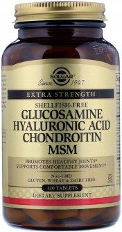 Хондропротектор Solgar Глюкозамин, гиалуроновая кислота, хондроитин и МСМ 120 таблеток (033984013179)