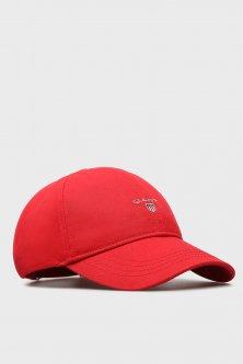 Мужская красная кепка с вышивкой Gant OS 90000