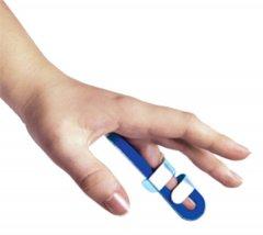 Ортез-шина для пальца руки с фиксацией к ладони Торос-Груп 503 размер 3 синий (4820192752718)