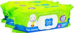 Упаковка влажных салфеток Baby Zaya Без запаха 3 пачки по 84 шт (2000525704702)