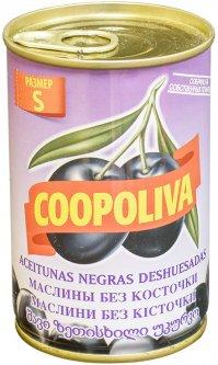 Маслины Coopoliva без косточек Черные 314 мл (8410522009283)