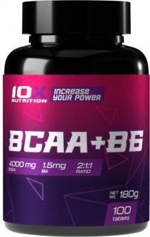 Аминокислота 10X Nutrition BCAA + B6 100 таблеток (525272730719)
