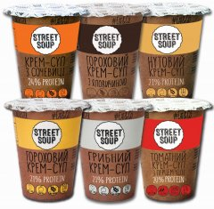 Набор крем-супов Street Soup в стаканах 6 шт х 50 г (8768137287368)