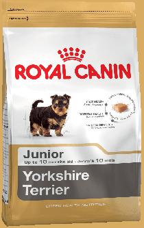 Royal Canin Yorkshire Junior для щенков породы йоркширский терьер в возрасте до 10 месяцев, 0,5 кг