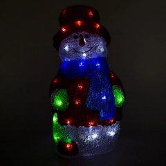 Новогодняя светодиодная фигурка Devilon Снеговик 21х21х40.5 см 40 лампочек Белая (140472) (5102682140472)