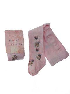 Колготки Rewon с абстрактным принтом 56-62 см Розовые