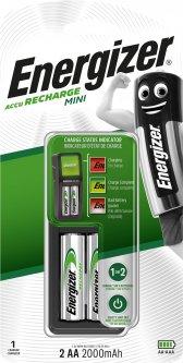 Зарядное устройство Energizer CH2PC3 Mini EU+2 NH15/AA 2000 мАч (E300701301)
