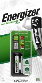 Зарядное устройство Energizer CH2PC3 Mini EU+2 NH12/AAA 700 мАч (Е300701401)