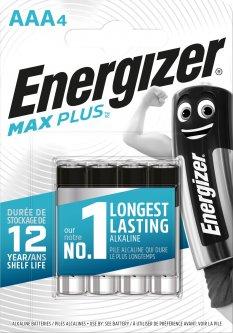 Батарейки Energizer AAA Max Plus 4 шт (E301321404)