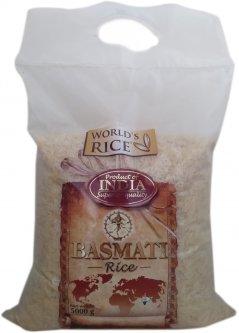 Рис World`s Rice Басмати Индийский пропаренный 5 кг (4820009103511)