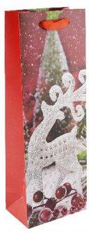 Пакет подарочный под бутылку Angel Gifts Олень 128х360х84 мм (Я44996_AG91357(67)_2)