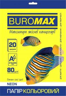 Бумага офисная Buromax А4 80 г/м2 Neon 20 листов Желтая (BM.2721520-08)