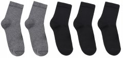 Набор носков Премьер Сокс 11В20-1 36-40 5 пар Черные/Светло-серые (4820163317083)