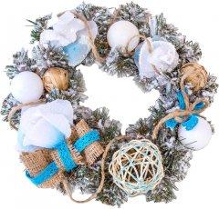 Венок декоративный Новогодько (YES! Fun) Белая роза 15 см (903771)