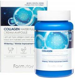 Увлажняющий крем-сыворотка FarmStay Collagen Water Full Moist Cream Ampoule с коллагеном 250 мл (8809035143476)