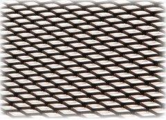 Решетка в бампер защитная декоративная Poputchik черная 1x030 №2 мелкая (151-103-2-К)