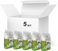 Упаковка зеленого гороха колотого Терра шлифованного первого сорта 900 г х 5 шт (4820015737090)