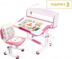 Комплект Evo-Kids BD-10 PN Стул + стол + полка + лампа (BD-10 PN с лампой)