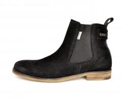 Чоловічі черевики челсі замш чорні Pierre Cardin, 45