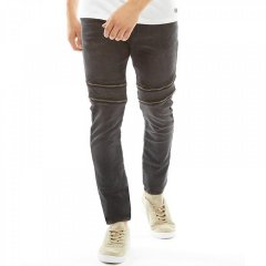 Джинси Fluid Skinny Fit Zip Detail Denim Washed Black Black, 28W 30L (10402408)