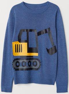Джемпер H&M 9Z6284998 110-116 см Синій (hm03571314600)
