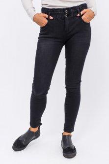 Узкие джинсы на широкой резинке Re-Dress - черный цвет, L (40) (2237)