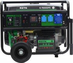 Генератор бензиновый RZTK G 7500DFE