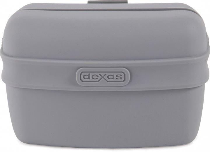 Контейнер для ласощі з кліпсою на пояс для собак Dexas Pooch Pouch Світло-сірий (PW600429) (0084297309275) - зображення 1