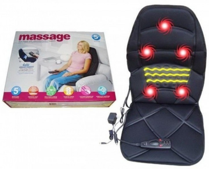 Массажная накидка на кресло Massage Seat Topper 5 вибрационная с пультом управления для дома и автомобиля - изображение 1