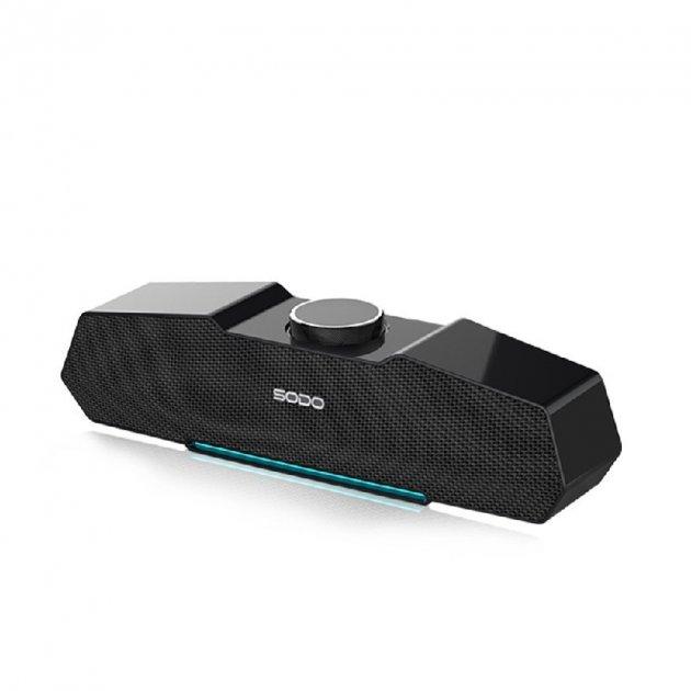 Беспроводная Bluetooth колонка SODO L7 Original Black NFS, AUX, microSD, FM радио, громкая связь - изображение 1
