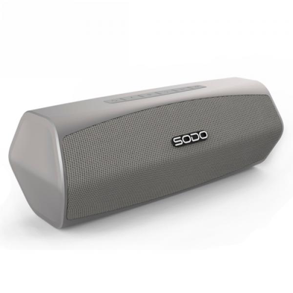 Бездротова Bluetooth колонка SODO L6 Original Silver NFS, AUX, microSD, FM радіо, гучний зв'язок - зображення 1