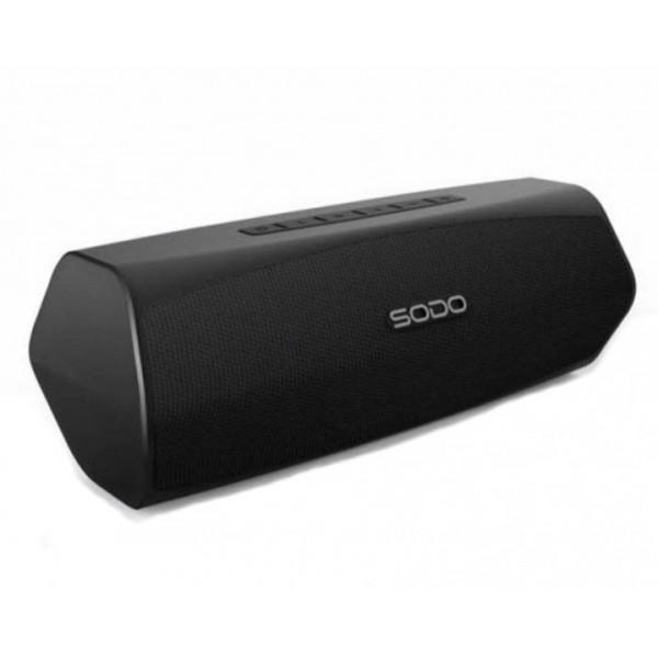 Бездротова Bluetooth колонка SODO L6 Original Black NFS, AUX, microSD, FM радіо, гучний зв'язок - зображення 1