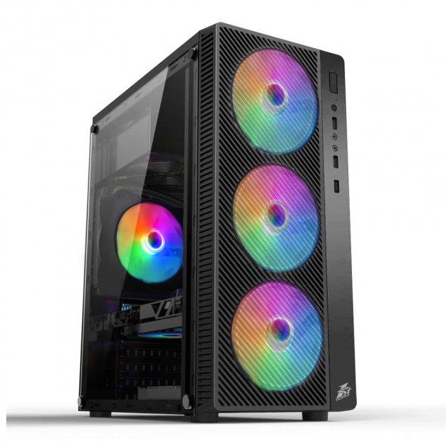 Корпус 1stPlayer A7-500BS-G6 500W Black - зображення 1
