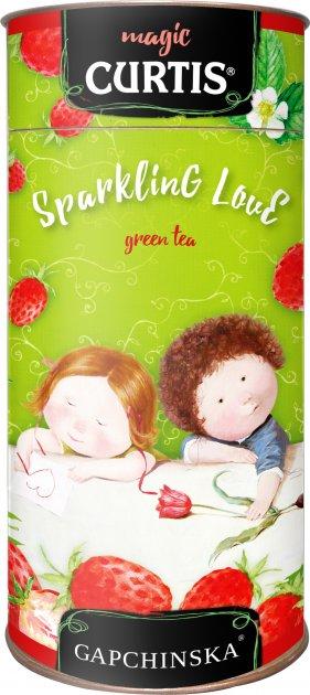 Чай Curtis зелений Sparkling Love з суницею 80 г (4823063706544) - зображення 1