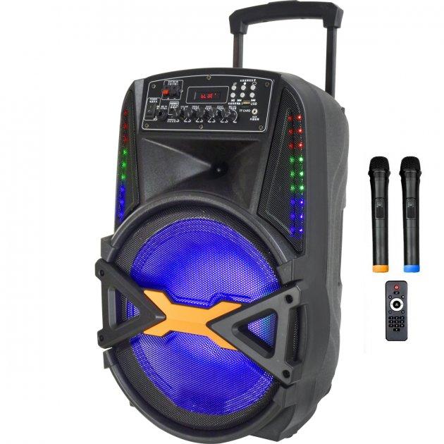 Автономная активная акустическая система BiG 250BAT два радио микрофона, караоке - изображение 1