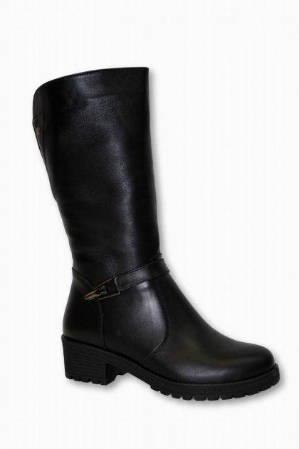 Женские черные кожаные зимние сапоги VASARI trend Черный 67451 36 - изображение 1