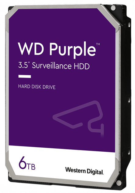 Жорсткий диск Western Digital Purple 6 TB 5640 rpm 128 MB WD62PURZ 3.5 SATA III - зображення 1