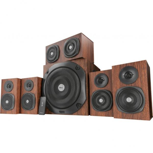 Акустична система Trust Vigor 5.1 Surround Speaker System Brown (21786) - зображення 1