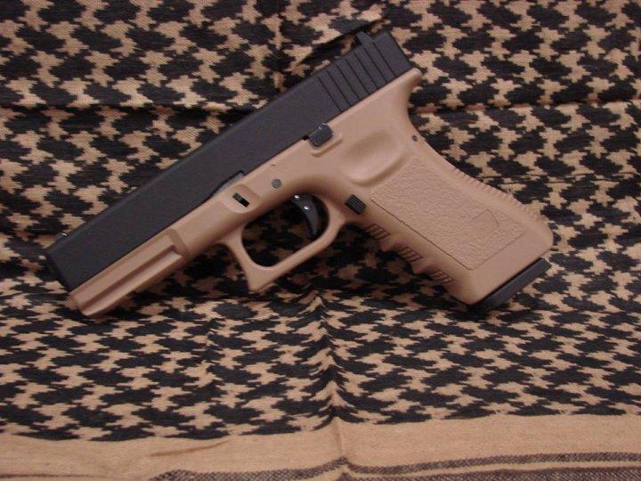 Пістолет KJW Glock 17 Tan Metal Slide CO2 (Страйкбол 6мм) - зображення 1