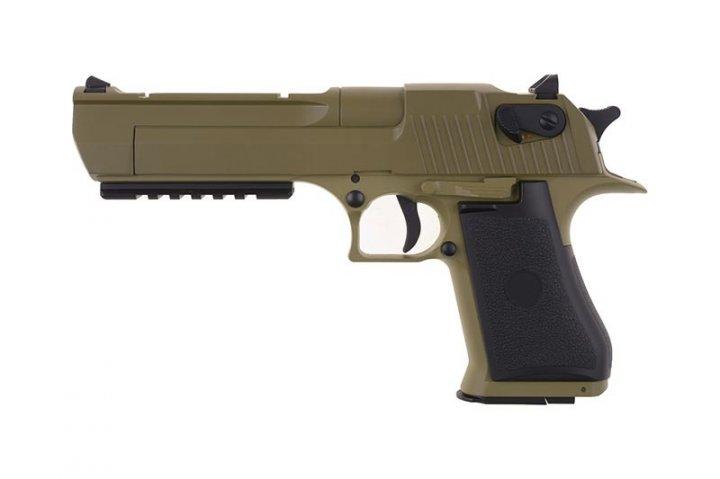 Пістолет Cyma Desert Eagle Rock CM.121 AEP Tan (Страйкбол 6мм) - зображення 1