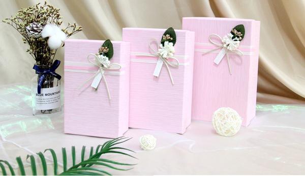 Набор подарочных коробок Ufo картонных 3 шт Розовых (12351-062 Набор 3 шт PINK прям.)