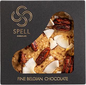 Шоколад Spell с карамелью, пеканом и кокосом 100 г (4820207310858_2188753887531) - изображение 1