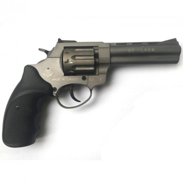 """Револьвер под патрон Флобера STALKER 4,5"""" Titanium - зображення 1"""