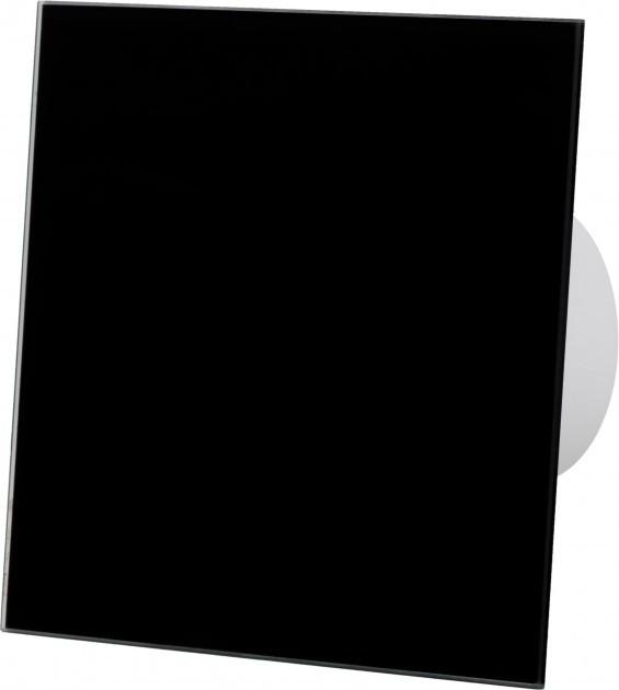 Вытяжной вентилятор AirRoxy dRim 125 S BB Черное стекло. - изображение 1