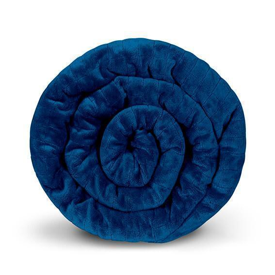 Утяжеленное (тяжелое) сенсорное одеяло GRAVITY 135x200см 10кг Темно-синее - изображение 1