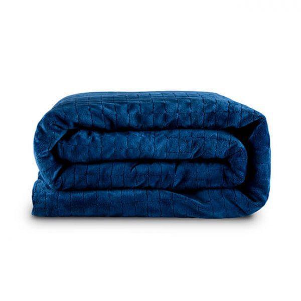 Утяжеленное (тяжелое) детское сенсорное одеяло Gravity 110x170см 6кг Темно-синее - изображение 1