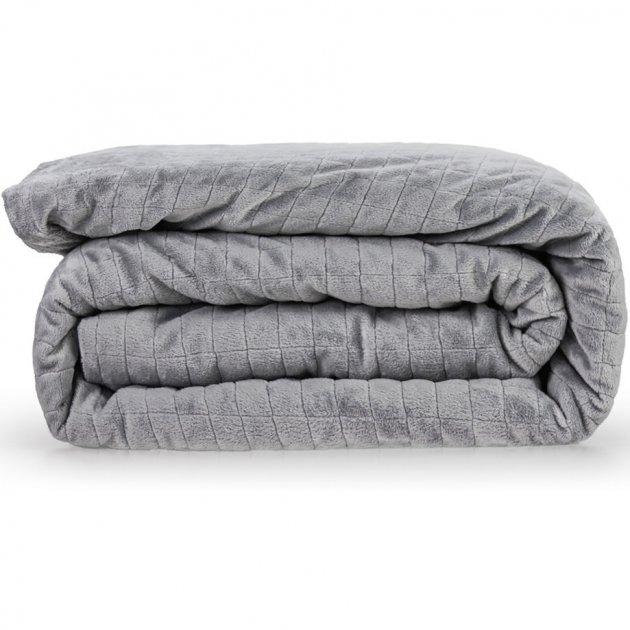 Утяжеленное (тяжелое) детское сенсорное одеяло Gravity 110x170см 7кг Темно-синее - изображение 1