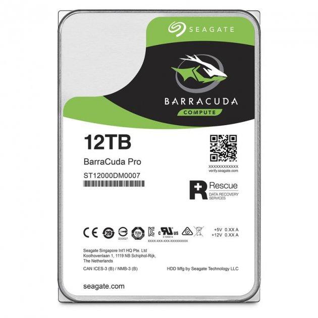 Накопичувач HDD SATA 12.0 TB Seagate BarraCuda Pro 7200rpm 256MB (ST12000DM0007) - зображення 1