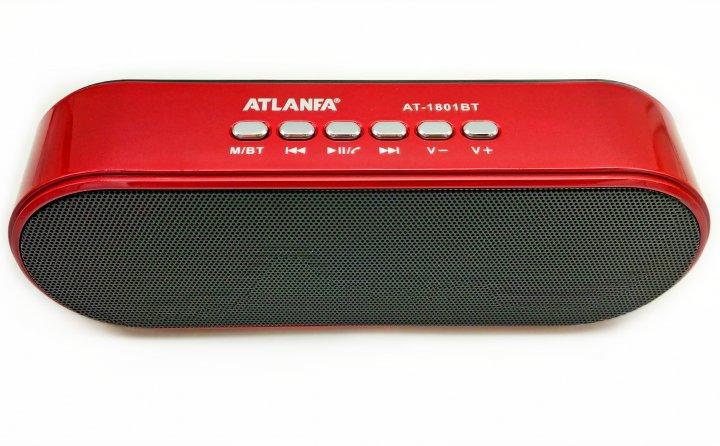 Портативна бездротова Bluetooth колонка Atlanfa AT-1801BT Red з низькочастотної мембраною - зображення 1